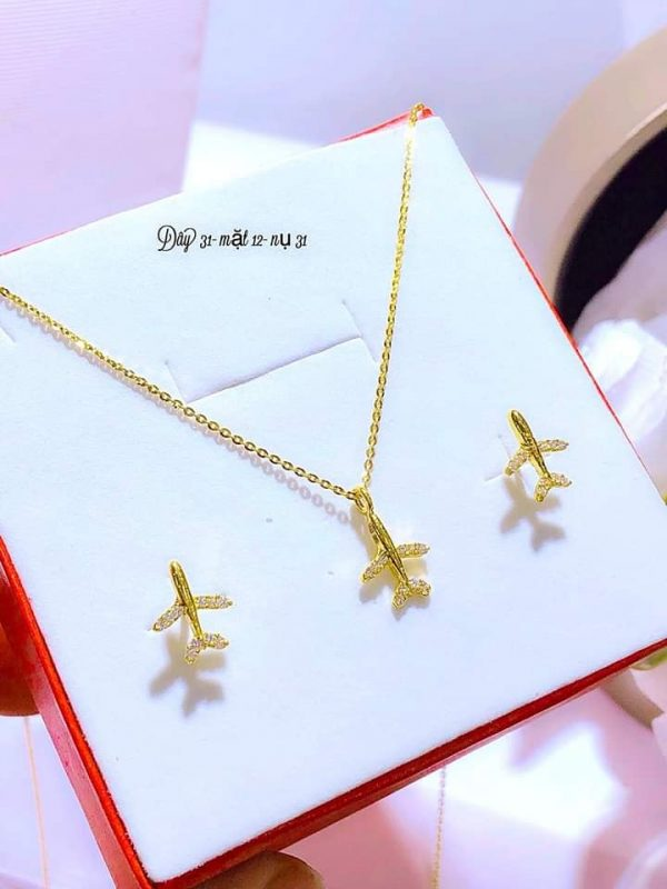 bộ trang sức vàng 10k tại Shop ATuoi