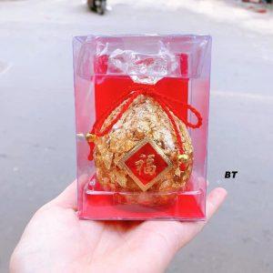 Túi tiền đựng vàng thỏi đựng trong hộp mika