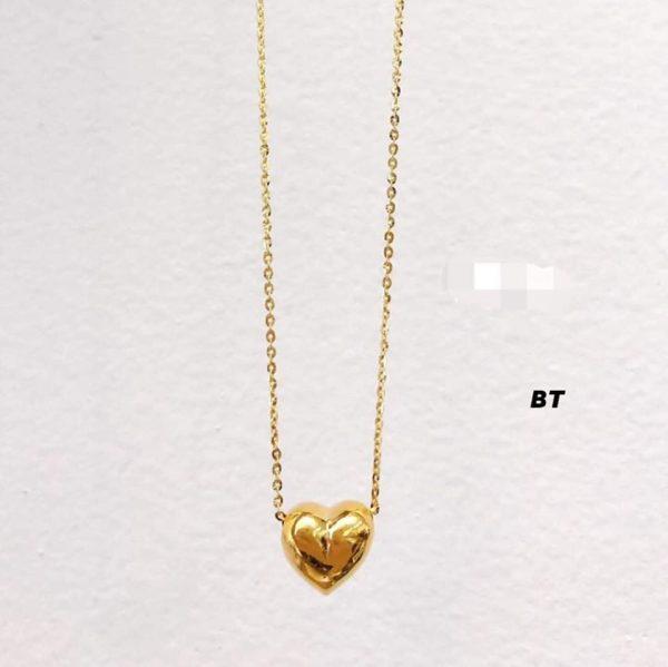 dây chuyền vàng tim phồng