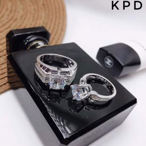 nhẫn bạc đôi