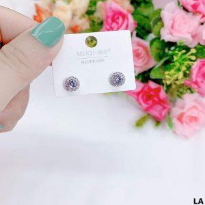 Bông nụ bạc hạt kim cương